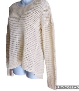 Volcum Off White OPEN KNIT Sweater M